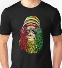 Camiseta unisex RASTA LION Rastafarian Jamaican reggae Camiseta musical