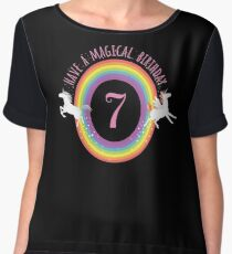 Unicorn Have A Magical 7th Birthday - Gift For 7 Year Old Girl For 7th Birthday Girl Chiffon Top