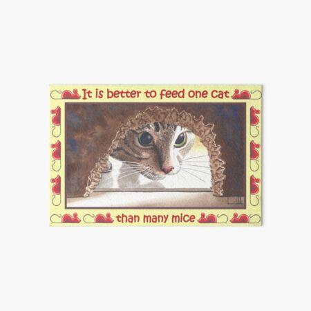 One Cat Art Board Print