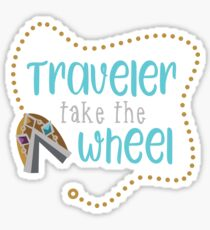 Traveler Take the Wheel Glossy Sticker