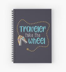 Traveler Take the Wheel Spiral Notebook