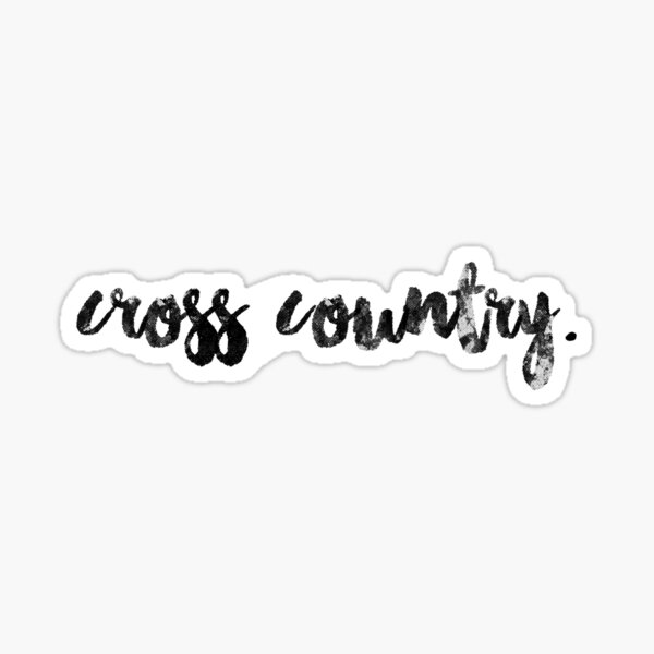 cross country Sticker