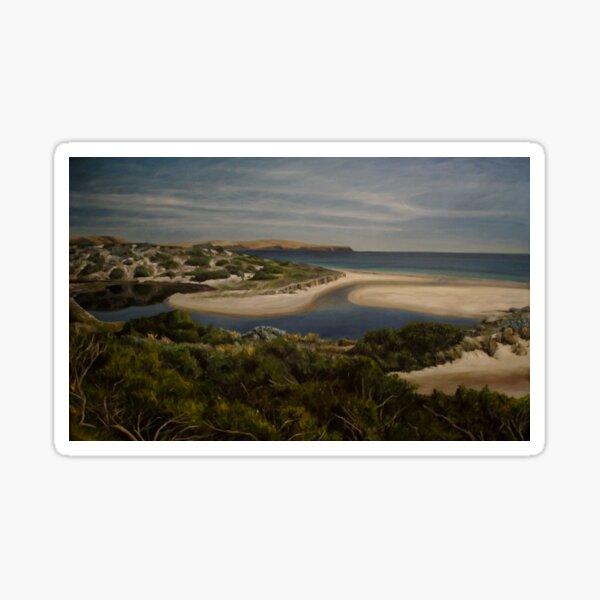 Normanville - South Australia - Fleurieu Peninsula - original work - oil on canvas by Avril Thomas Sticker