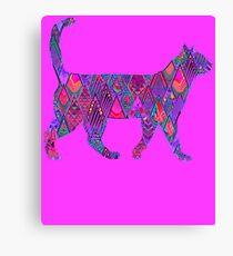 Neon Cat Cool1 Canvas Print