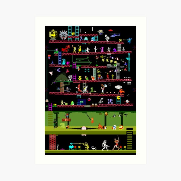 50 Video Game Classics Art Print