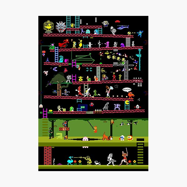 50 Video Game Classics Photographic Print