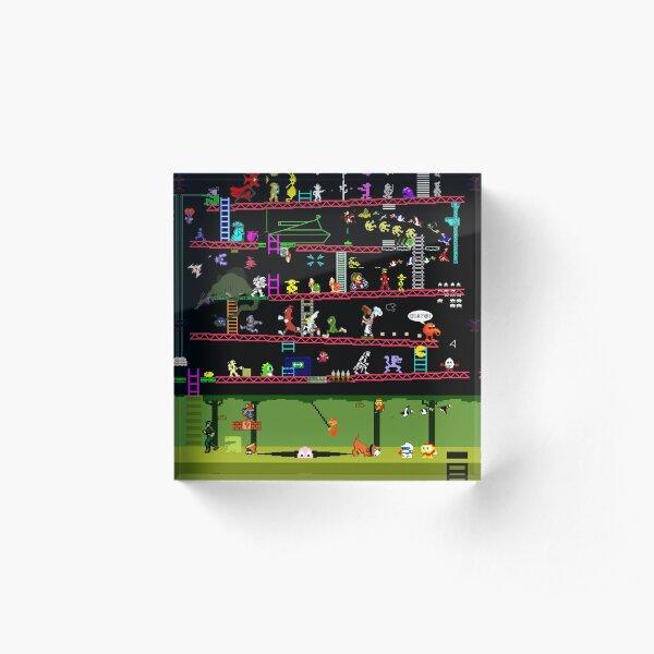 50 Video Game Classics Acrylic Block