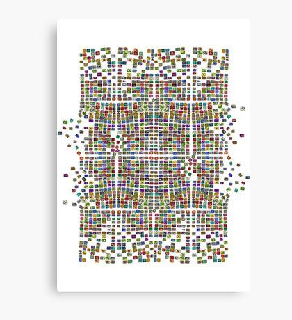 Broken Pattern Artwork Canvas Print