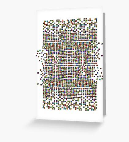 Broken Pattern Artwork Greeting Card
