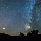 Mars - Perseid Meteor - Milky Way by Bo Insogna