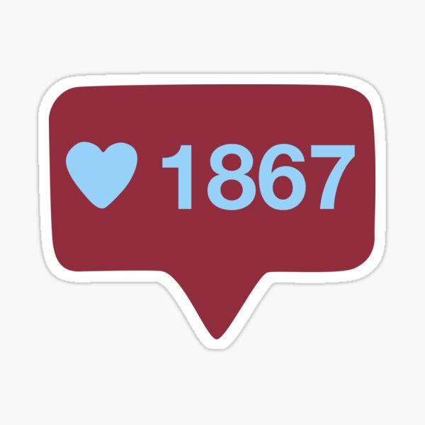 1867 likes Sticker