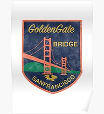 San Francisco patch vintage Poster
