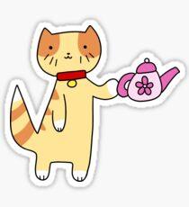 Teapot Tabby Cat Sticker