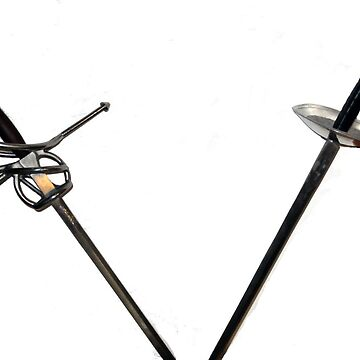 crossed historic fencing rapiers by CalliopeSoul