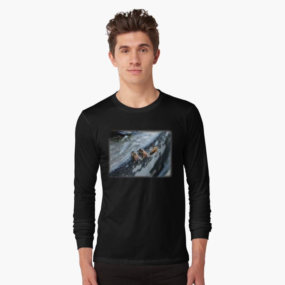 Bees take a drink from A Gardener's Notebook Long Sleeve T-Shirt