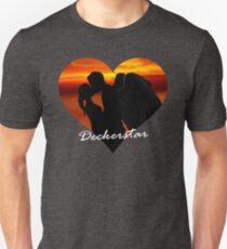 Sunset Deckerstar heart t-shirt Unisex T-Shirt
