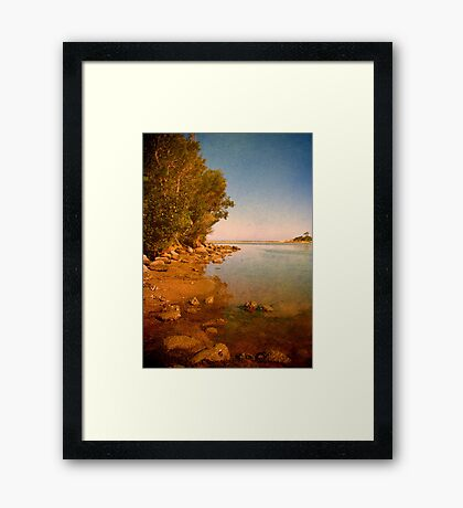 Where the Lake meets the Sea Framed Print