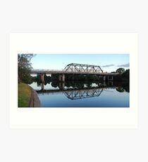 Dawson River Bridge Art Print