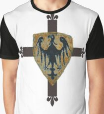 German Medieval Eagle of the Teutonic Knights Graphic T-Shirt