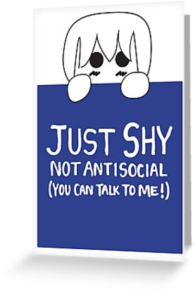 Just Shy, not Antisocial by Elliot Sumners