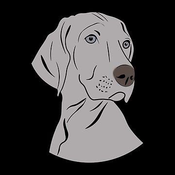 Weimaraner Dog Puppy Love by ccheshiredesign