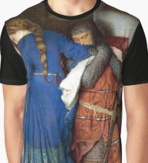 The Meeting on the Turret Stairs - Frederick Burton 1864 Graphic T-Shirt