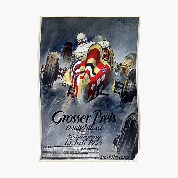 Auto Racing in Germany 1934 Poster
