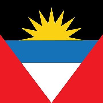 Antigua and Barbuda National Flag by identiti