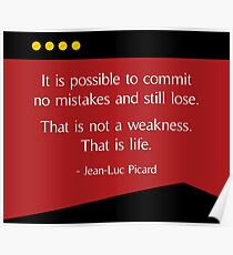 Captain Picard - Star Trek TNG Quote Poster