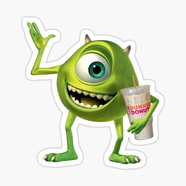Mike Wazowski Runs on Dunkin Sticker
