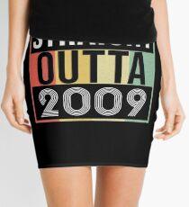 Straight Outta 2009 Classic 2009 Retro Disco Theme - Made In 2009 Born In 2009 Gift Mini Skirt