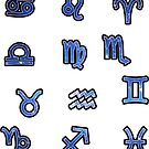 Zodiac Sticker Set | Galaxy by Daniel Watts