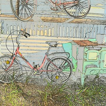 BIKES OUT IN THE SHED by Tinpants