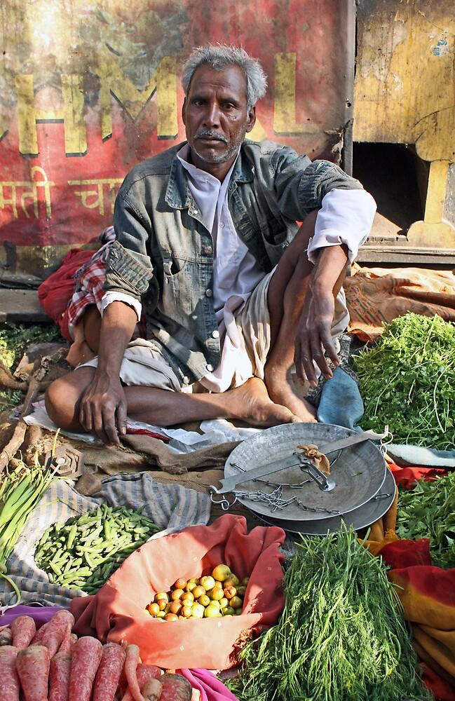 Indian market seller by meganslattery