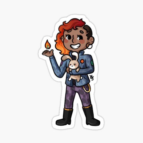 Aubrey Little / The Lady Flame Sticker
