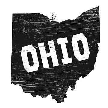 Ohio Home Vintage Distressed Map Silhouette by YLGraphics