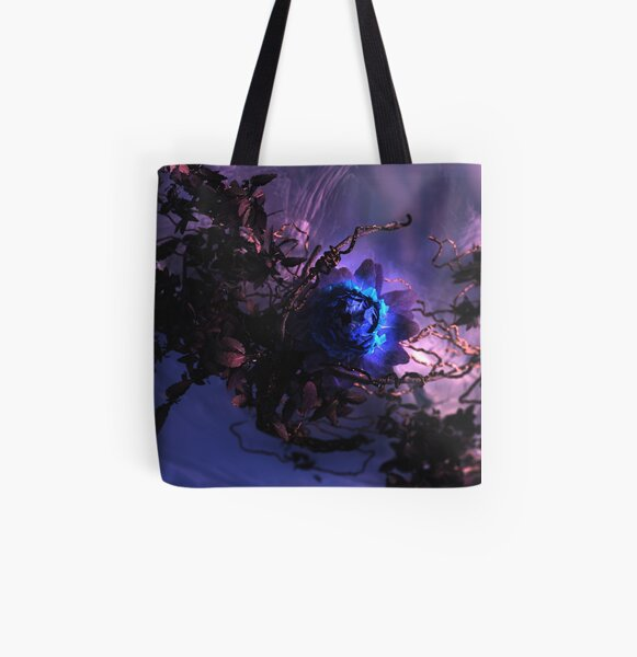 The Winter Rose All Over Print Tote Bag