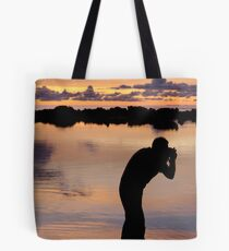 Shooting the Sun Tote Bag