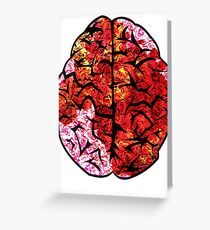 Instinct, brain with roses Greeting Card