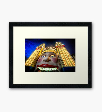 In Your Face - Luna Park   - The HDR Experience Framed Print