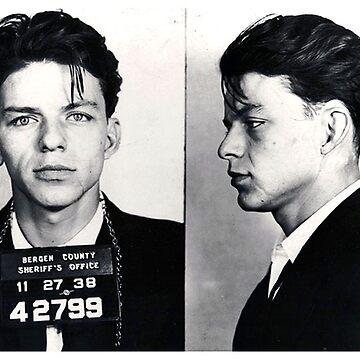 Frank Sinatra Mugshot Vertical by RubinoCreative