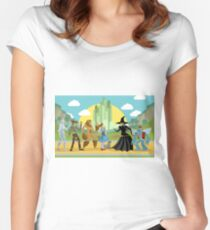 wizard of oz characters Women's Fitted Scoop T-Shirt