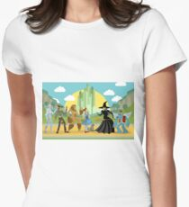 wizard of oz characters Women's Fitted T-Shirt