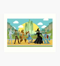 wizard of oz characters Art Print