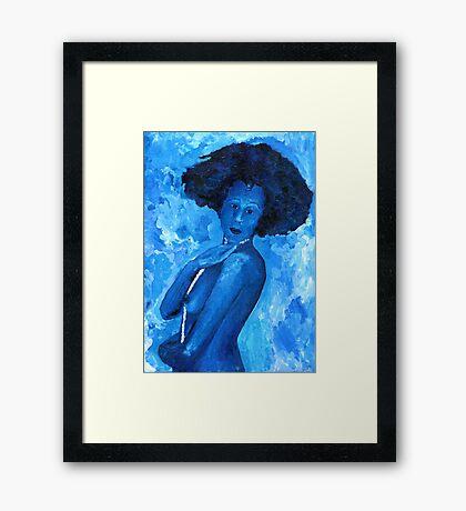 The Blue Lady Framed Print