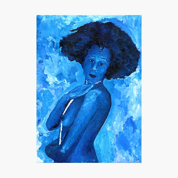 The Blue Lady Photographic Print