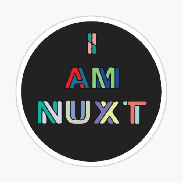 I Am Nuxt Black (Small) Sticker