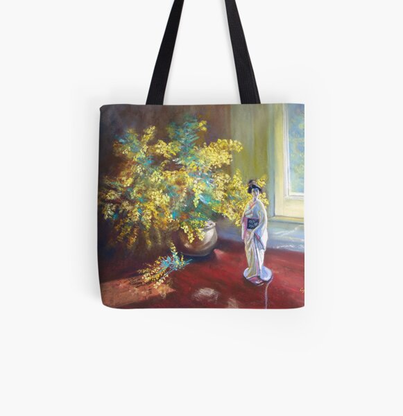 'Still LIfe with Wattle' All Over Print Tote Bag