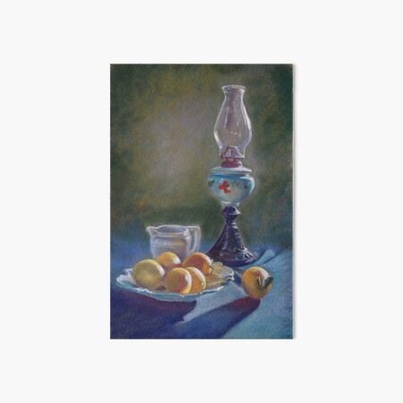 Lamp & Lemons Still Life Art Board Print