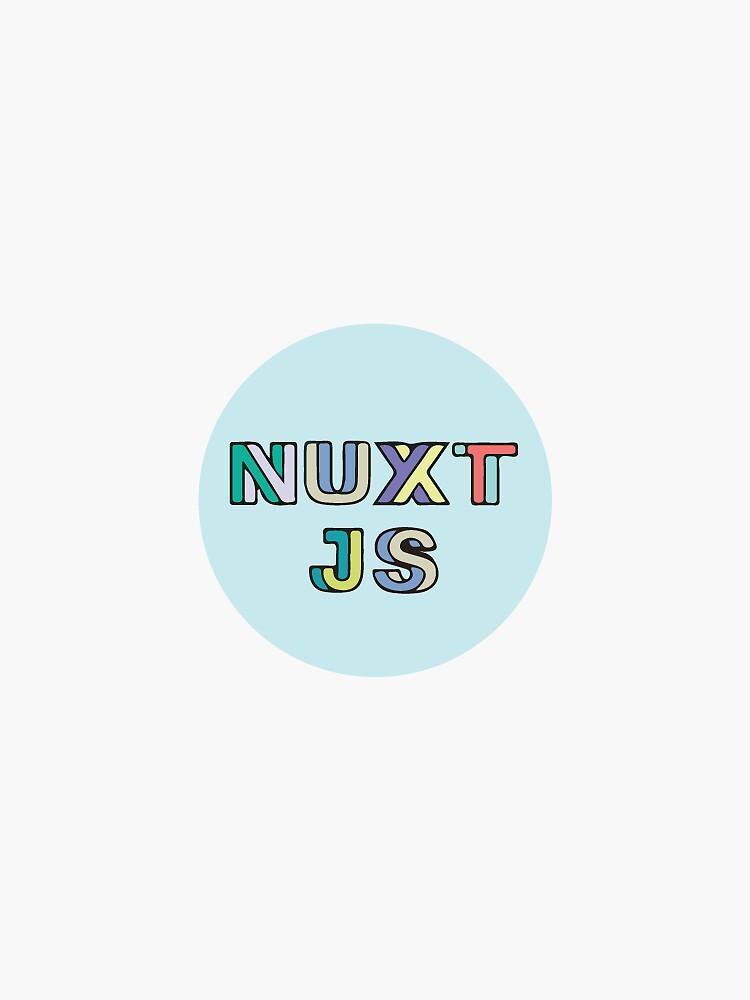 Nuxt Js Light Blue (Small) by krutie